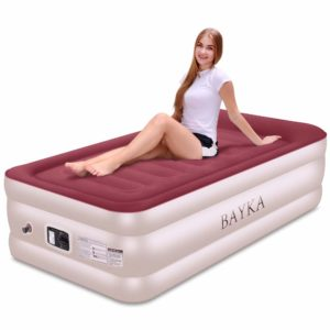 BAYKAL Twin Air Mattress with Built-in Pump & Pillow