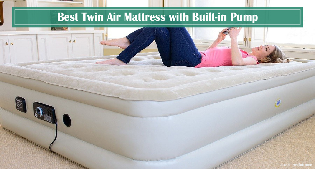 Twin Air Mattress with Built-in Pump