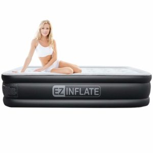 EZ INFLATE Upgraded Twin Cheap Air Mattress